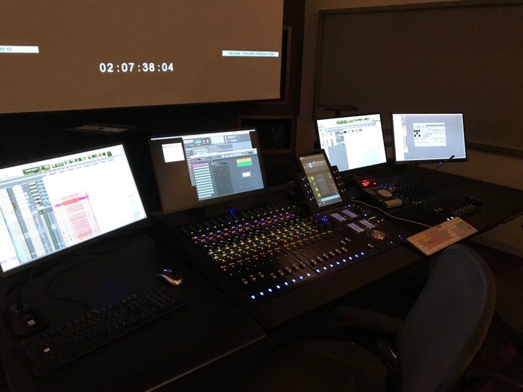 Régie Audio Surface Avid S6; stations Avid Pro-Tools et Merging Pyramix